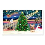 XmasMagic/Yorkie #17 Sticker (Rectangle 50 pk)