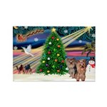 Xmas Magic & Yorkie Rectangle Magnet