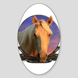 Palomino horse Sticker (Oval)