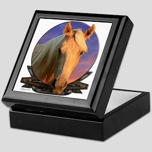Palomino horse Keepsake Box