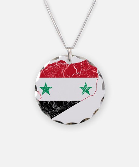 Syria Flag And Map Necklace