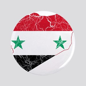 "Syria Flag And Map 3.5"" Button"