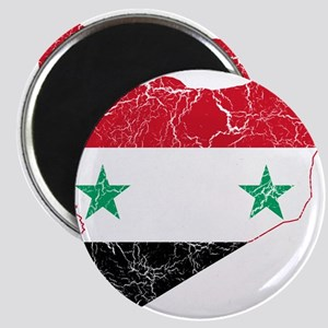 Syria Flag And Map Magnet