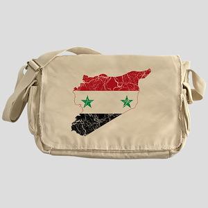 Syria Flag And Map Messenger Bag