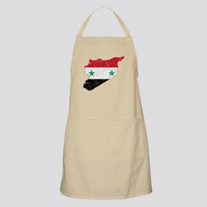 Syria Flag And Map Apron