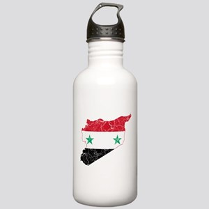 Syria Flag And Map Stainless Water Bottle 1.0L
