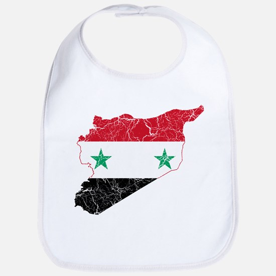 Syria Flag And Map Bib