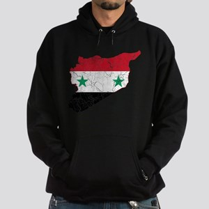 Syria Flag And Map Hoodie (dark)