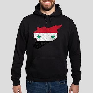 Syria Flag And Map Hoodie (dark)