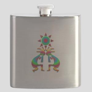 Two Kokopelli #1 Flask