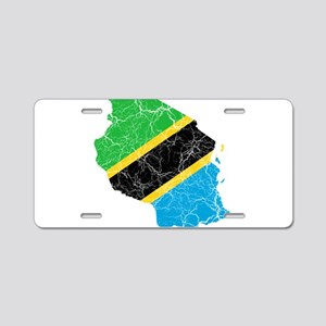 Tanzania Flag And Map Aluminum License Plate