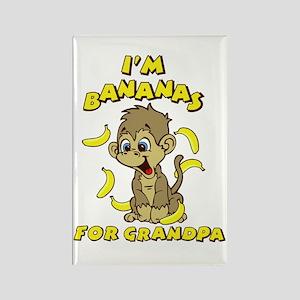 I'm Bananas For Grandpa Rectangle Magnet