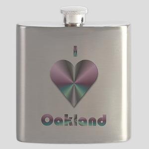I Love Oakland #2 Flask