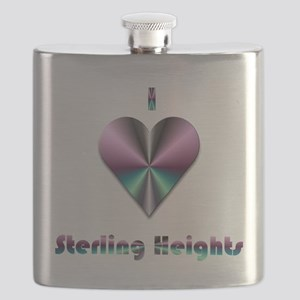 I Love Sterling Heights #2 Flask