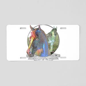 Horses,Pastels Aluminum License Plate