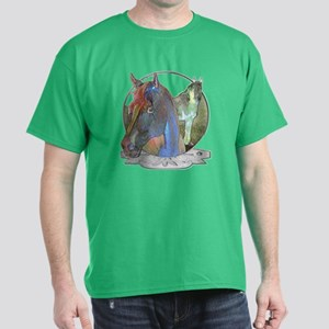 Horses,pastel Dark T-Shirt