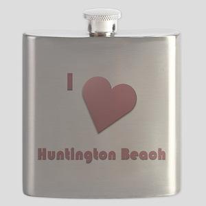 I Love Huntington Beach #12 Flask