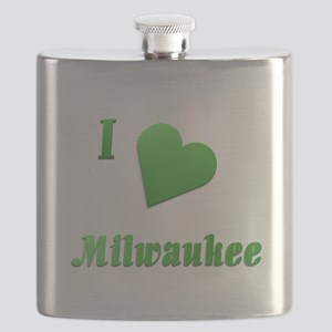 I Love Milwaukee #14 Flask