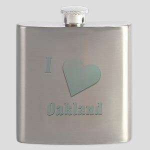 I Love Oakland #15 Flask