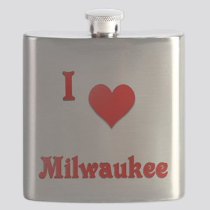 I Love Milwaukee #21 Flask