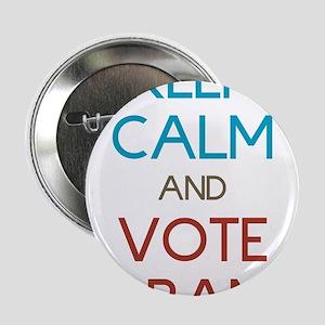 """Keep Calm Nobama 2.25"""" Button"""