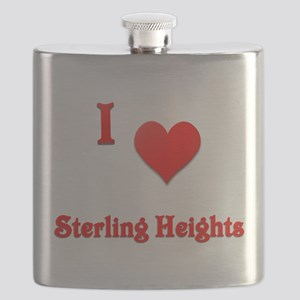 I Love Sterling Heights #21 Flask