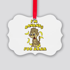 I'm Bananas For Nana Picture Ornament