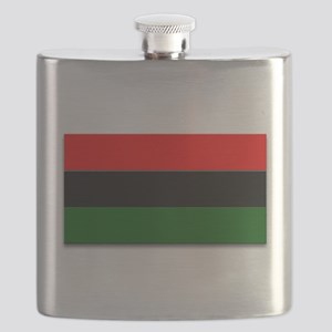 Red Black and Green Flag Flask