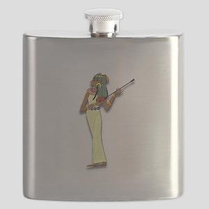 Egyptian Woman Musician Flask