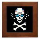 Lil' Swim'n Skully Framed Tile