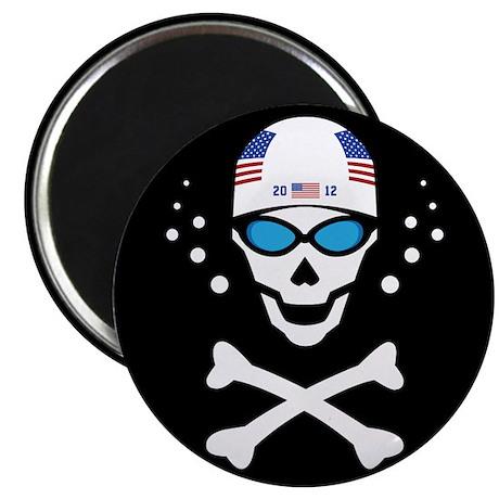 """Lil' Swim'n Skully 2.25"""" Magnet (10 pack)"""