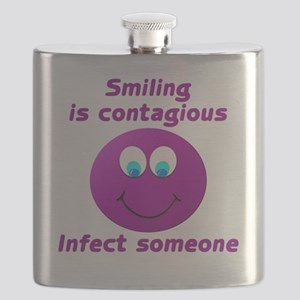 Smiling is contagious #5 Flask