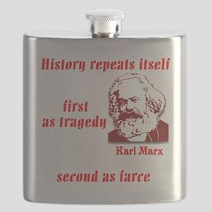 Karl Marx on History Flask
