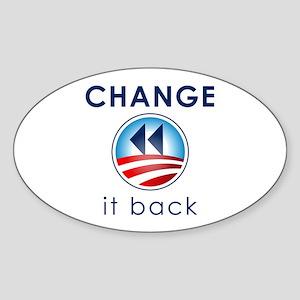 Change It Back Sticker (Oval)