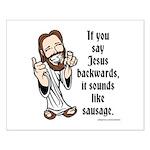 Jesus Sausage Small Poster