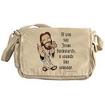 Jesus Sausage Messenger Bag