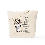 Jesus Sausage Tote Bag