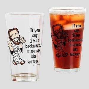 Jesus Sausage Drinking Glass
