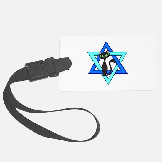 Jewish Cat Stars Luggage Tag