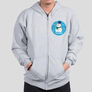 Cute Personalized Snowman Xmas gift Zip Hoodie