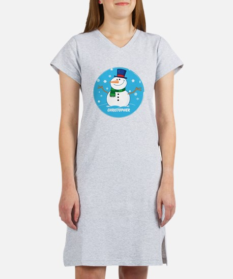 Cute Personalized Snowman Xmas gift Women's Nights