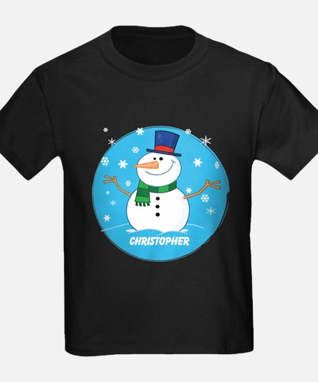 Cute Personalized Snowman Xmas gift T