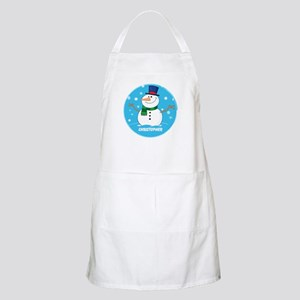 Cute Personalized Snowman Xmas gift Apron