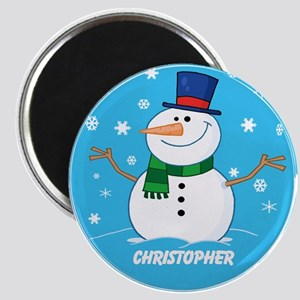Cute Personalized Snowman Xmas gift Magnet