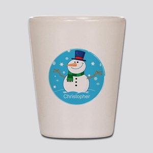 Cute Personalized Snowman Xmas gift Shot Glass