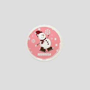 Cute Personalized Snowman Xmas gift Mini Button