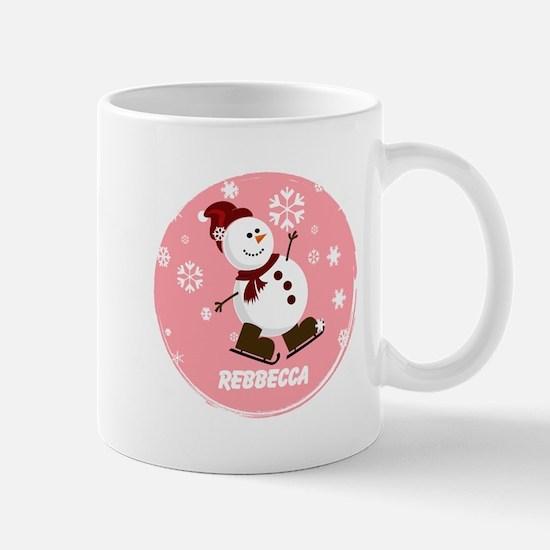 Cute Personalized Snowman Xmas gift Mug
