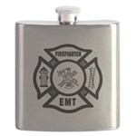 Firefighter EMT Flask