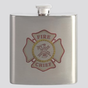 Fire Chief Maltese Flask