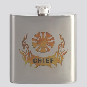 Fire Chiefs Flame Tattoo Flask